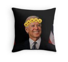 Joe Biden Flower Crown Throw Pillow