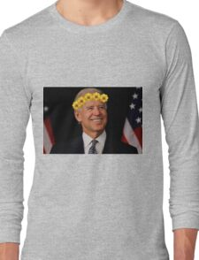 Joe Biden Flower Crown Long Sleeve T-Shirt