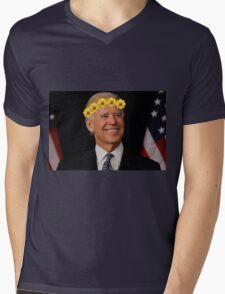 Joe Biden Flower Crown Mens V-Neck T-Shirt