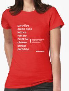 Jimmy Buffett - The Helvetica Music Project Womens Fitted T-Shirt