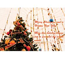 Christmas Wish Card Photographic Print