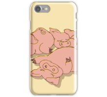 Piggies sunbath iPhone Case/Skin