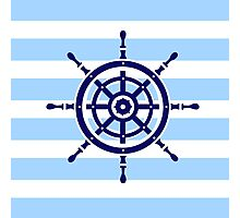 AFE~Nautical- Helm Wheel Photographic Print