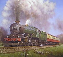 GWR King class 4.6.0 on Dainton bank. by Mike Jeffries