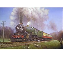 GWR King class 4.6.0 on Dainton bank. Photographic Print