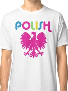 Retro 80's Style Polish Eagle t shirt Classic T-Shirt