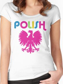 Retro 80's Style Polish Eagle t shirt Women's Fitted Scoop T-Shirt