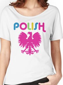 Retro 80's Style Polish Eagle t shirt Women's Relaxed Fit T-Shirt