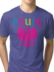 Retro 80's Style Polish Eagle t shirt Tri-blend T-Shirt
