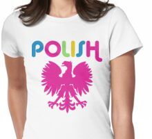 Retro 80's Style Polish Eagle t shirt Womens Fitted T-Shirt