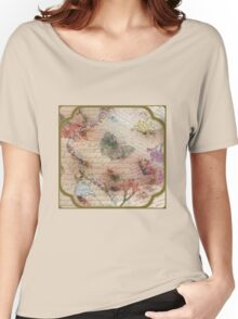 Victorian Blossoms with Butterfly Women's Relaxed Fit T-Shirt