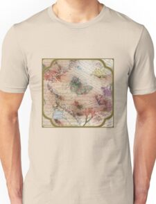 Victorian Blossoms with Butterfly Unisex T-Shirt