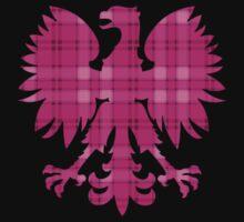 Pink Plaid Polish Eagle t shirt by PolishArt