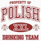 Polish Drinking Team t shirt by PolishArt