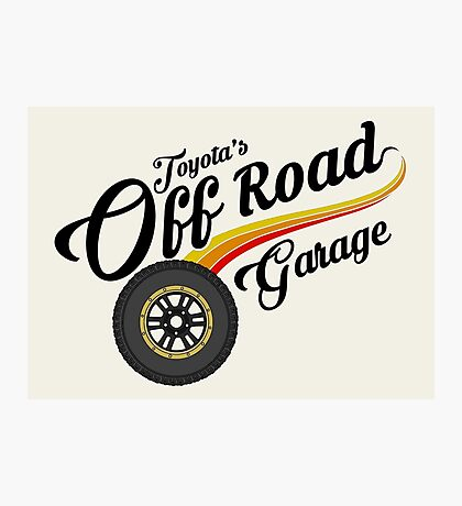 Off Road Garage Photographic Print