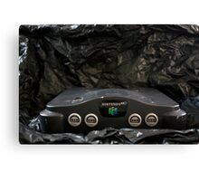 Nintendo 64 System and AC Power Cord Canvas Print