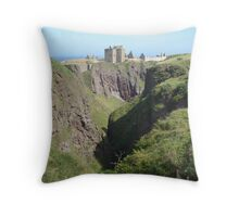 Dunottar Castle Throw Pillow