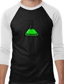 Science Beaker Green Men's Baseball ¾ T-Shirt