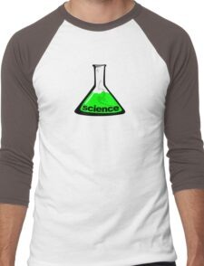 Science Beaker Green Men's Baseball ¾ T-Shirt