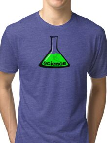 Science Beaker Green Tri-blend T-Shirt