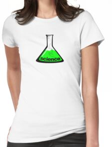 Science Beaker Green Womens Fitted T-Shirt