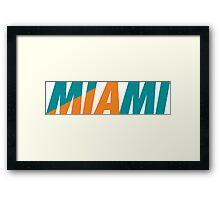 Miami MIA Framed Print
