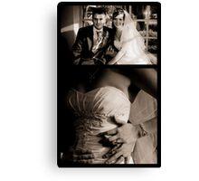 Jennie & Dan Wedding Portrait Canvas Print