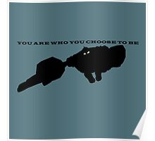 You are who you choose to be. Poster