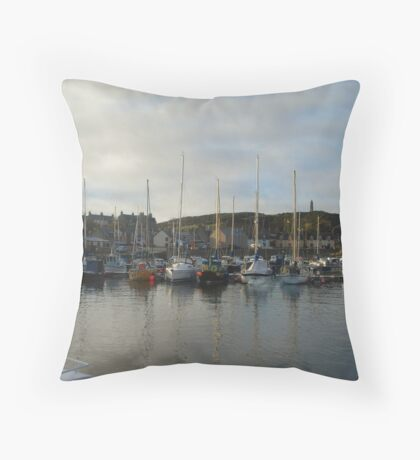 Findochty Harbour Throw Pillow