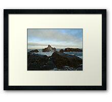 Seascape in Aberdeenshire Framed Print