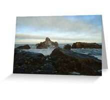 Seascape in Aberdeenshire Greeting Card
