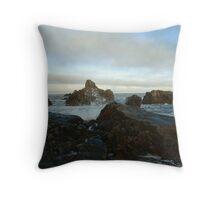 Seascape in Aberdeenshire Throw Pillow