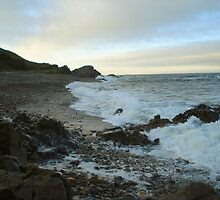 Findochty beach at dusk by JaneMerson