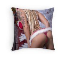 Christmas Tails Throw Pillow