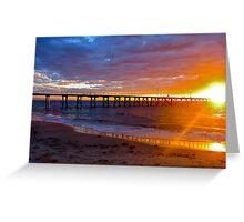 Rays of evening sunlight... Adelaide, Australia Greeting Card