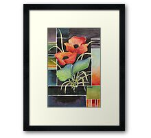 TWO POPPIES - AQUAREL Framed Print