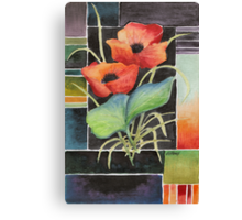 TWO POPPIES - AQUAREL Canvas Print