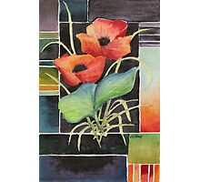 TWO POPPIES - AQUAREL Photographic Print
