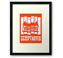 Psycho Scriptnotes Framed Print