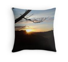 Dusk over Royal Deeside Throw Pillow