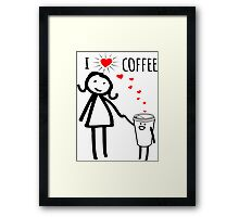 Cute I Love Coffee Tees Framed Print