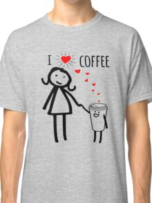 Cute I Love Coffee Tees Classic T-Shirt