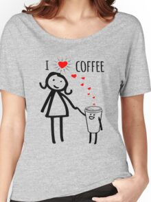 Cute I Love Coffee Tees Women's Relaxed Fit T-Shirt