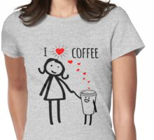 Cute I Love Coffee Tees Womens Fitted T-Shirt