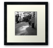 Quiet Time in Market Lane Framed Print