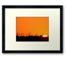 ON WHOS GOT MORE POWER Framed Print