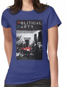 Political Party! shirt (and other items available too) - Choose shirt style/color! (tshirt with red solo solos, shades, beer pong)  Womens Fitted T-Shirt