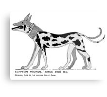 Stylized depiction of ancient Egyptian dogs Metal Print