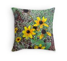 Dave's Flowers Throw Pillow