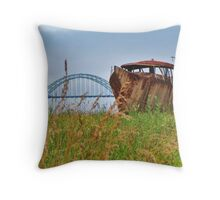Rusted and Stuck in Newport, Oregon Throw Pillow